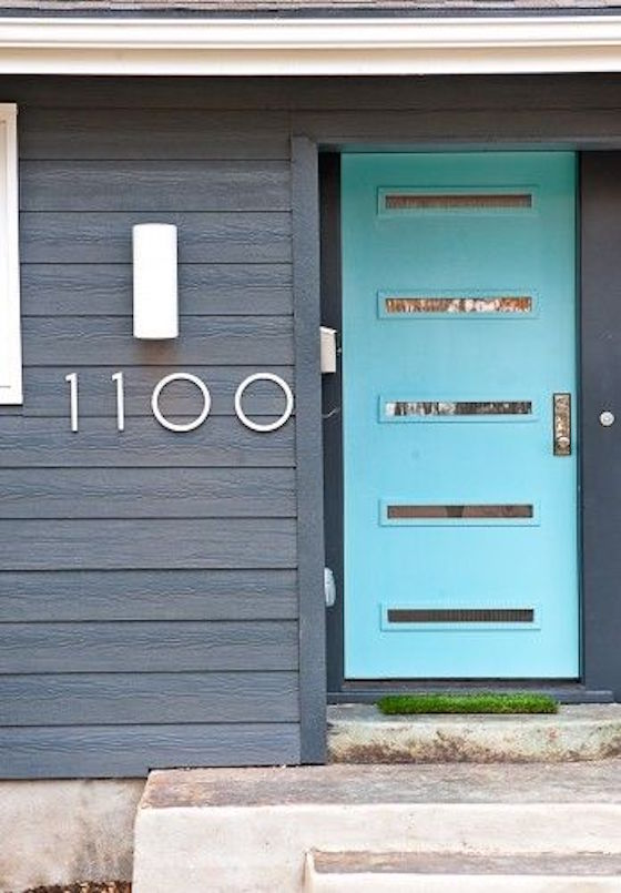 Big Bold Silver Numbers for House Numbers