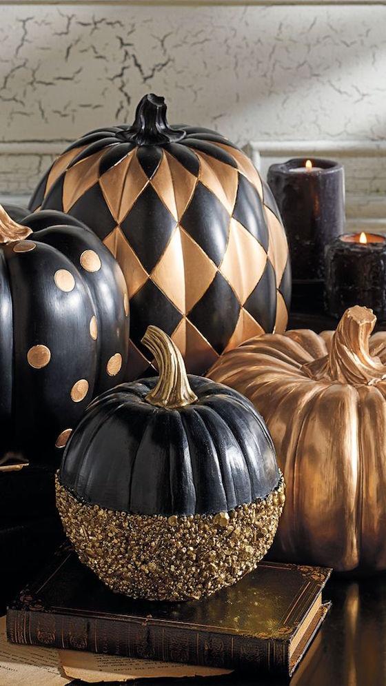Gilded Pumpkins 9 Creative Diy Designs For Fall Omg
