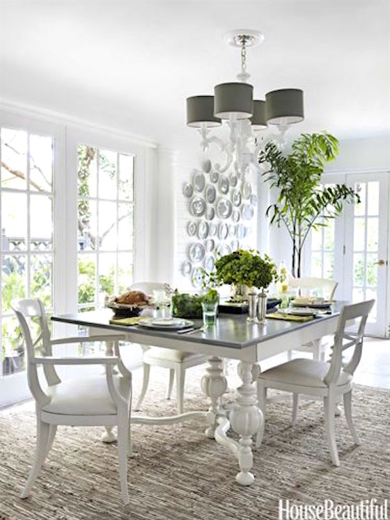Paint your furniture white to lighten up the room