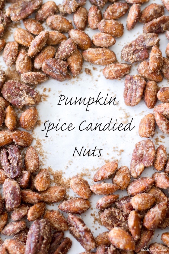 Pumpkin Spiced Candied Nuts