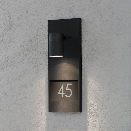 Wall sconce with house number