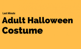 Last Minute Adult Halloween Costume
