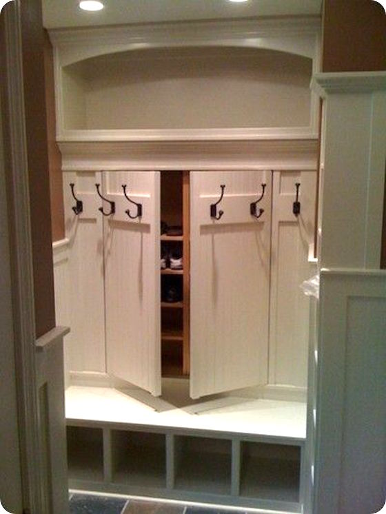 Mudroom With Individual Cubbies