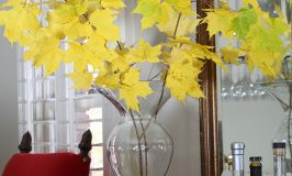 Place Colorful Fall Branches in a Vase
