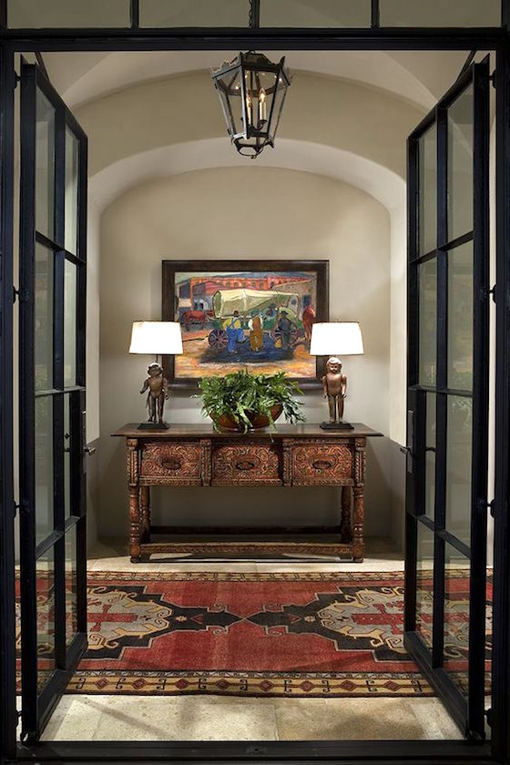 Beautiful foyer found at Wiseman and Gale Interiors