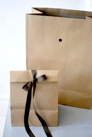Brown bag gift bag
