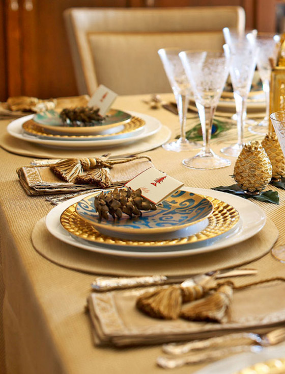 Christmas Tablescape via Traditional Home