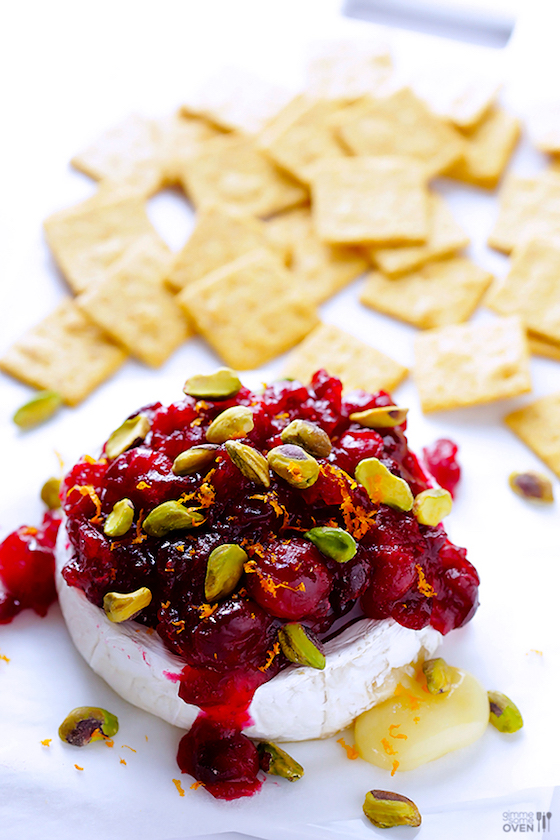 6 Brie Appetizers that Make a Stunning Presentation | Cranberry Pistachio Baked Brie from Gimme Some Oven
