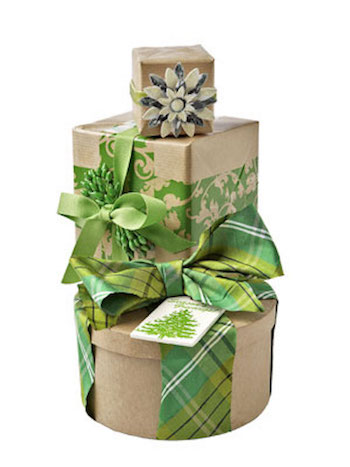 Brown craft gift boxes
