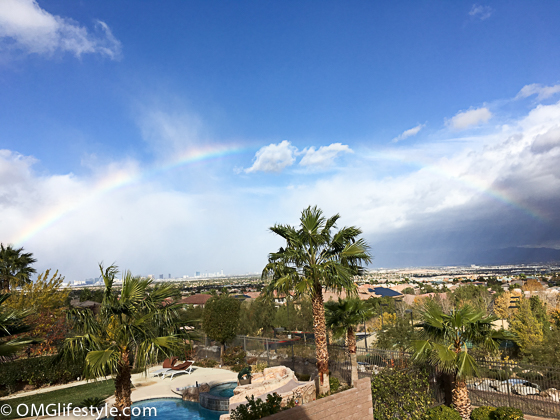 Rainbow over Las Vegas