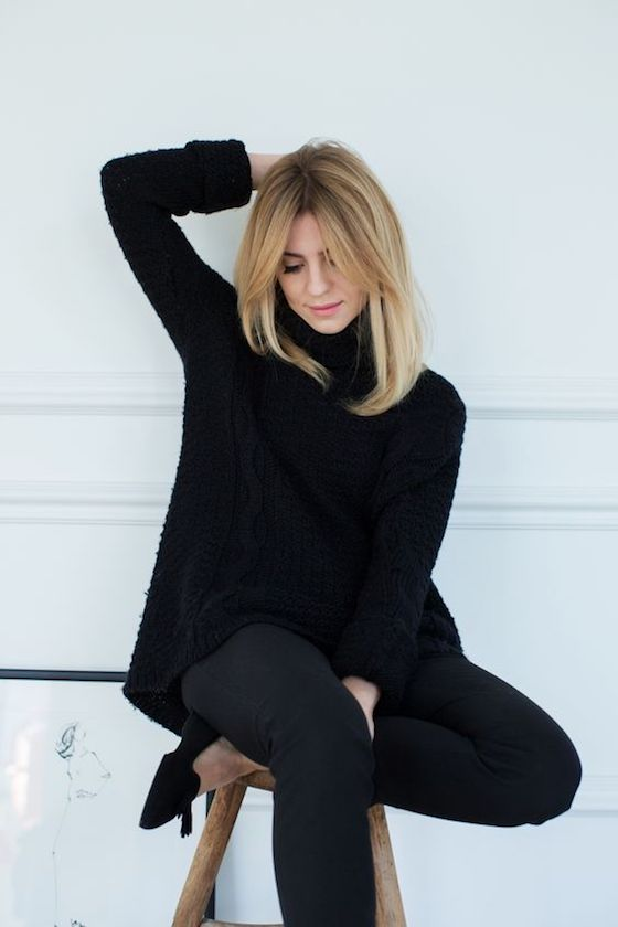 Classic Black Monochromatic Outfit