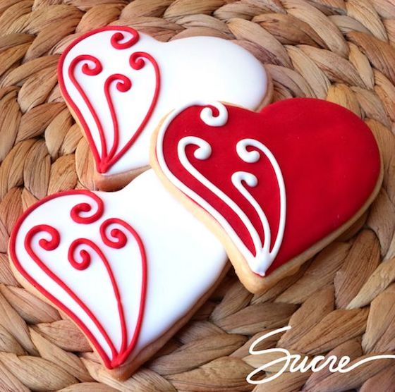 Decorative Valentine Cookies