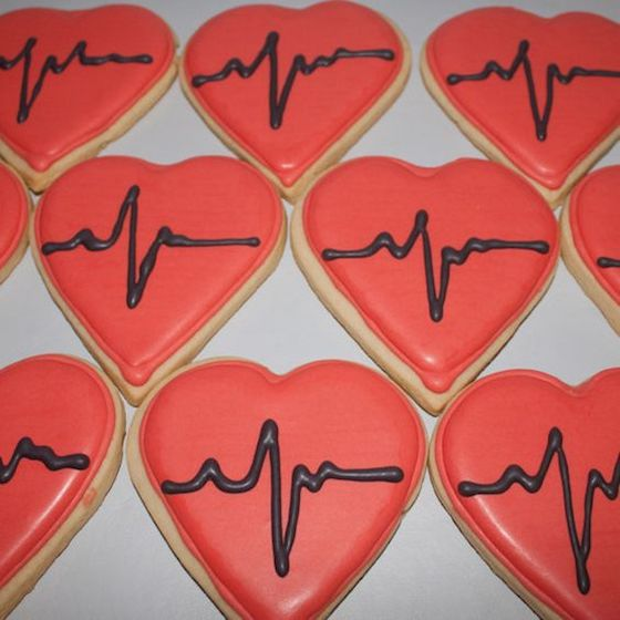 Valentine Sugar Cookies - You make my heart beat!