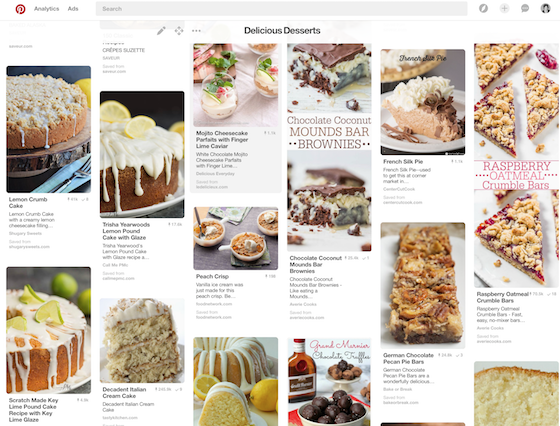 OMG Lifestyle Pinterest Dessert Board