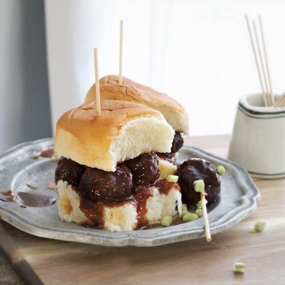 Tennessee Whiskey Meatball Sliders
