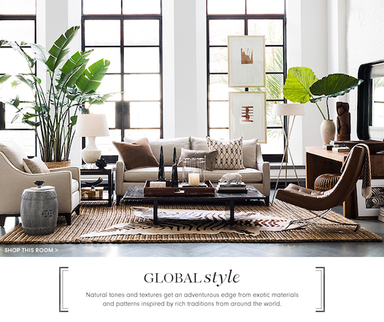 Williams Sonoma Home - Global Living Room