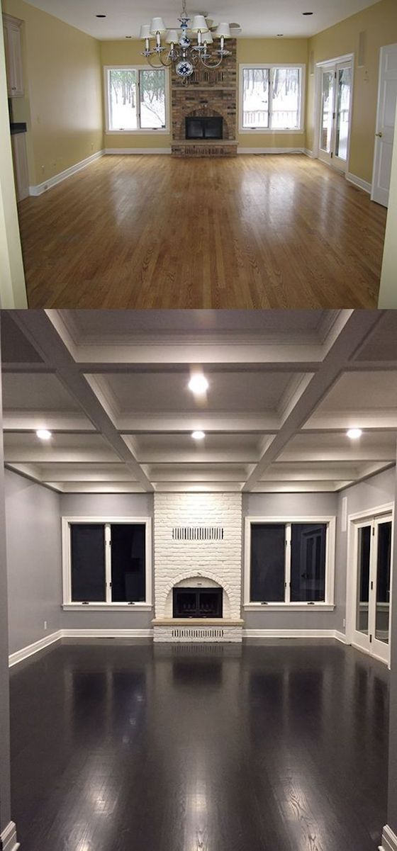 Before & After floors and ceiling