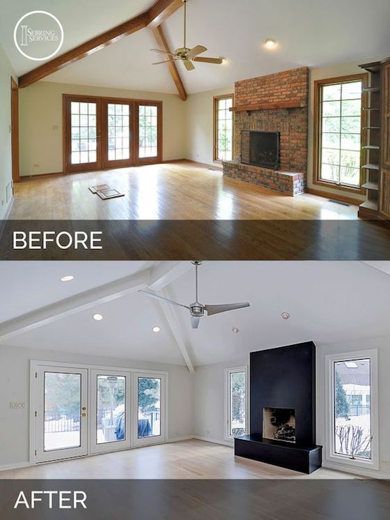 Before and After Great Room