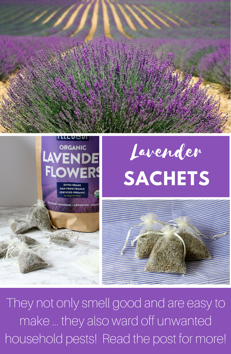 Lavender Sachets are Easy to Make and Ward off Unwanted Household Pests