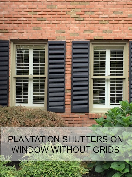 Plantation Shutters On Windows Without Grids