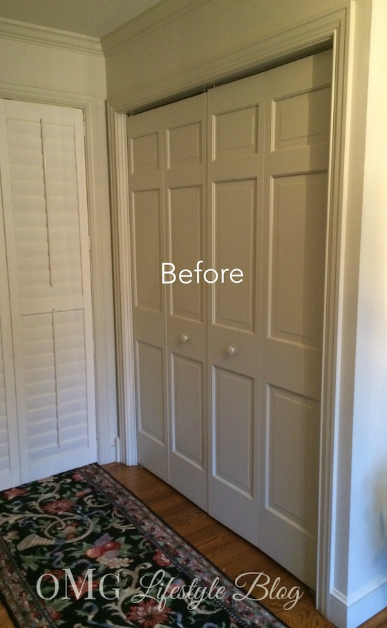 Cream Bifold Coat Closet Doors