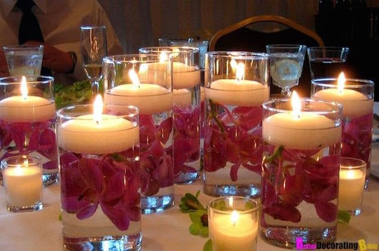 Valentine S Day Dinner Party Floating Candles Centerpiece Omg