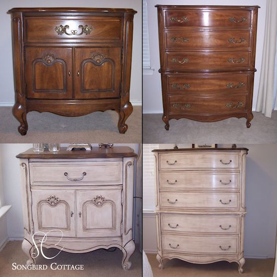 French Provencal Furniture Before And After With Chalk Paint