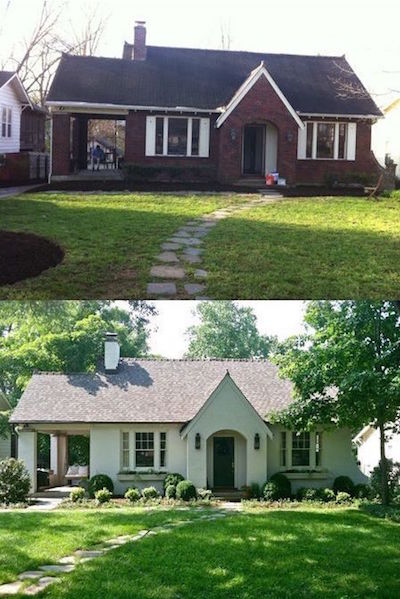 Painted Brick Homes Add Charm & Curb Appeal - OMG ... on Brick House Painting Ideas  id=35574