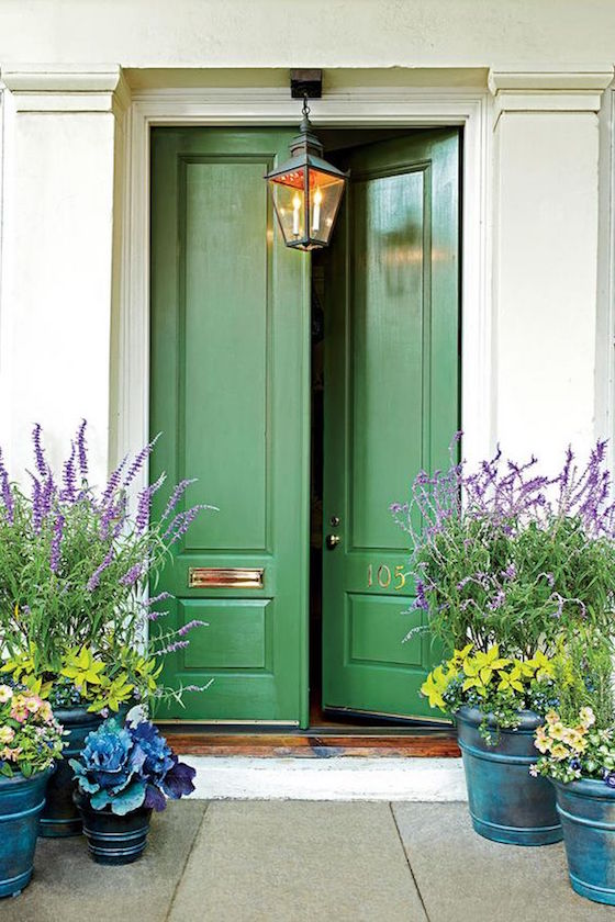 welcoming painted front doors